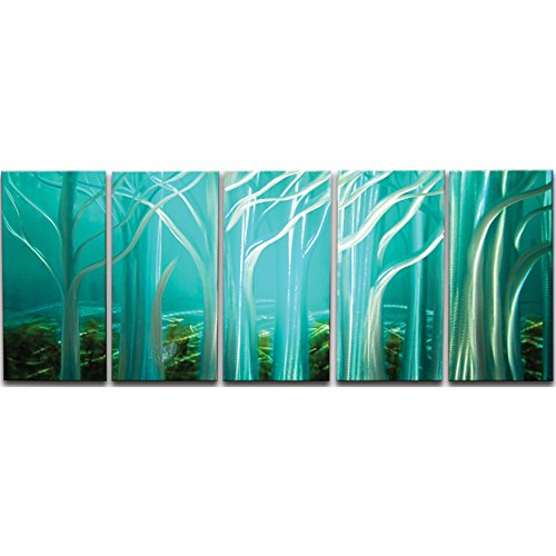 Metal Artscape Forest of Souls 5-Panel Handmade Metal Wall Art, 24 by 59-Inch