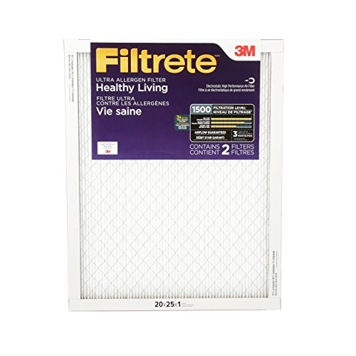 Filtrete Healthy Living Ultra Allergen Reduction Filter, MPR 1500, 20 x 25 x 1-Inches, 2-Pack (Hvac Furnace compare prices)