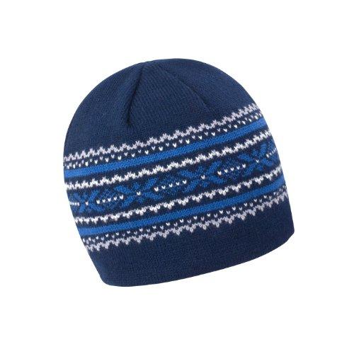 Result - Bonnet tricoté Aspen - Adulte unisexe (Taille unique) (Bleu  marine Gris Bleu Blanc) 8c60c38be55