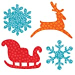 AccuQuilt Go Fabric Cutting Dies It Fits, Sleigh and Snowflakes