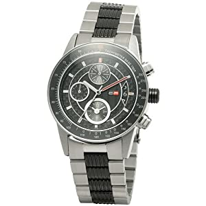 DFactory Men's DFW010SBB Black Label Black Dial Bracelet Chronograph Watch