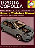 Toyota Corolla Service and Repair Manual: 2002 to 2007 (Haynes Service and Repair Manuals)