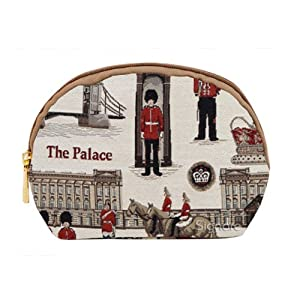 Signare Fashion Canvas/Tapestry Cosmetic Bag/Make-up Bag/Purse in Royal Guard Motif----A perfet London Look