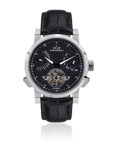 Hindenberg Reloj automático Man 390-H Convertor Negro 42 mm