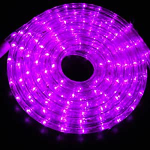 Amazon.com: Outdoor and Indoor 30 Feet Purple(Pink) LED Rope Light: Home & Kitchen