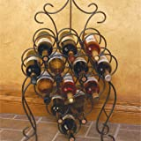 J&J Wire Wine Rack, Dark Pewter