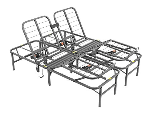 Pragma Bed Pragmatic Adjustable Bed Frame, Head and Foot, Queen, Gray (Adjustable Bed Electric compare prices)