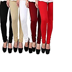 BULLY Women's Cotton Lycra Leggings combo of 5 (MPJLEG-68)