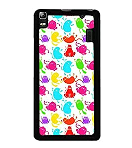 Fuson Premium 2D Back Case Cover Cute cats With Black Background Degined For Lenovo A7000