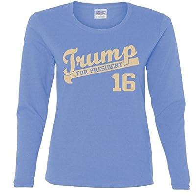 Ladies Long Sleeve: Vintage Team Trump 16 Shirt