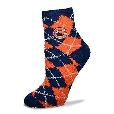 For Bare Feet NFL Argyle Fuzzy Sleep Socks