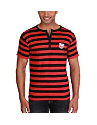 Max Exports Men's Cotton Striped Henley Tshirt - B00V2AR7S0