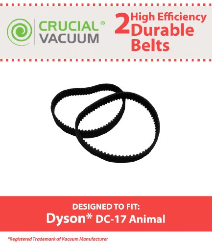 2 Dyson DC17 Animal Belts (8MM), Replaces Dyson Vacuum Part# 911710-01, Designed & Engineered by Crucial Vacuum (Dyson Dc17 8mm Belt compare prices)