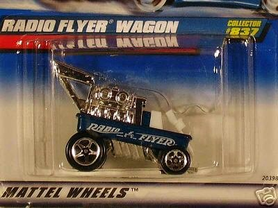 Mattel Hot Wheels 1999 1:64 Scale Blue Radio Flyer Wagon Die Cast Car Collector #837 - 1
