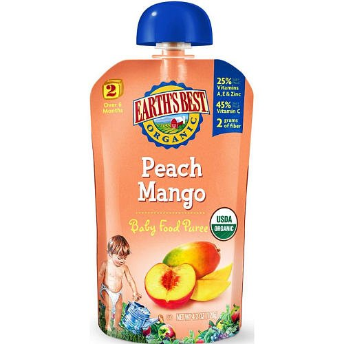 Earth'S Best 2Nd Food Puree Peach Mango