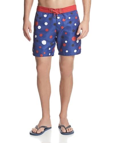 Mr. Swim Men's Double Polka Dot Board Shorts