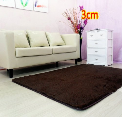 soft modern shag area rugs coffee brown rug living room