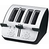 T-fal TT7461 Avante Deluxe 4-Slice Toaster with Bagel Function, Black