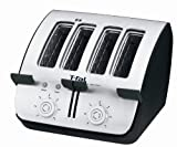 T-fal TT7461002A Avante Deluxe 4-Slice Toaster with Bagel Function, Black