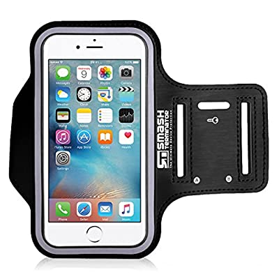 Smash Terminator® Sports Running Jogging Gym Exercise Running Armband Arm Band Case Cover Holder For Mobile Phone Device. Made from Premium Neoprene Lycra, Sweatproof Layer, Reflective Strip and Key Slot by AllThingsAccessory® (As Seen in Runners World Ma