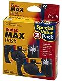 2 Kodak MAX 35mm Single Use Cameras with Flash