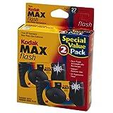 2 Kodak MAX 35mm Single Use Cameras with Flash ~ Kodak