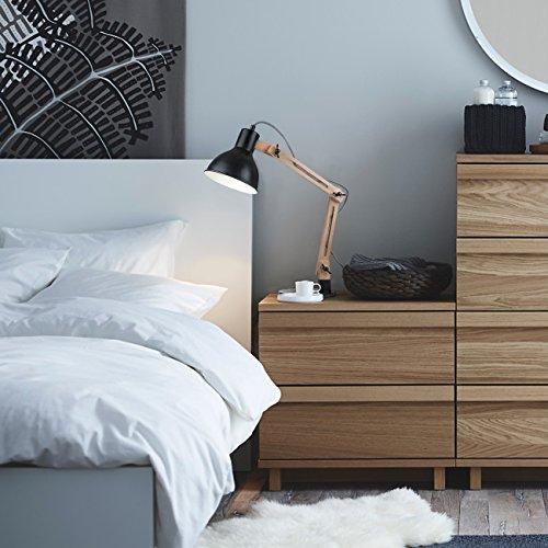 tomons leselampe im klassichen holz design schreibtischlampe tischleuchte verstellbare. Black Bedroom Furniture Sets. Home Design Ideas