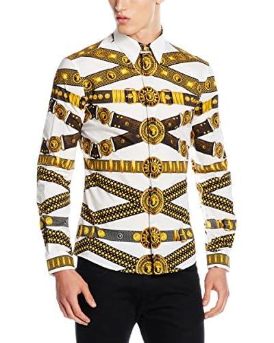 Versace Camicia Uomo [Bianco/Dorato]