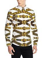 Versace Camisa Hombre (Blanco / Dorado)