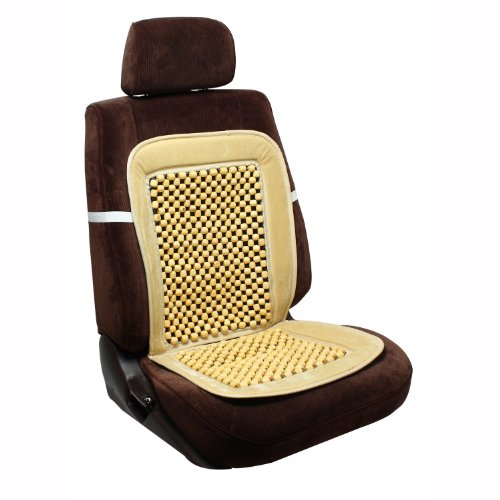 Zone Tech Wood Bead Seat Cover Massage Cool Premium Comfort Cushion - Reduces Fatigue