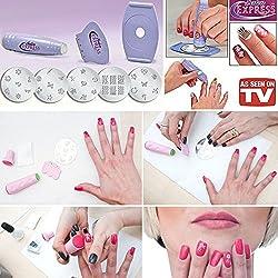 Salon Express Nail Polish Art Decoration Stamping Design Kit Decals Paint Stamp