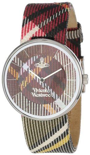 Vivienne Westwood VV020BR - Reloj analógico unisex de cuero multicolor