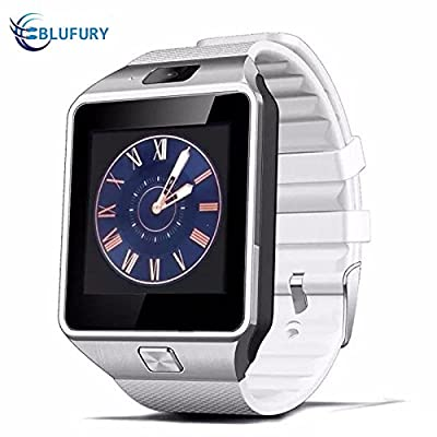 Blufury BLFDZ0916SW Smartwatch Phone -Tarnish/White