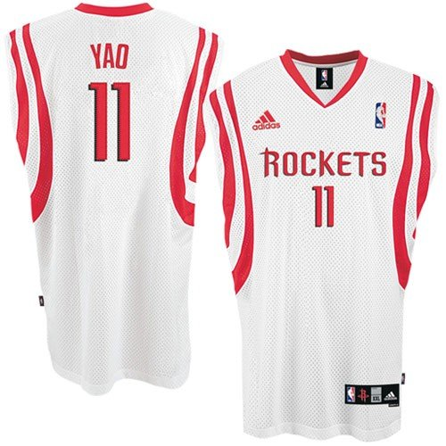 Looking for Yao Ming Jersey: adidas White Swingman #11 ...