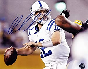 AUTOGRAPHED ANDREW LUCK (Indianapolis Colts) 2012 ROOKIE NFL Football SIGNED Glossy... by Trackside Autographs