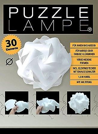 s puzzle lampe lampada f r ihnen und aussen inkl kabel mit ein aus schalter im geschenk karton. Black Bedroom Furniture Sets. Home Design Ideas