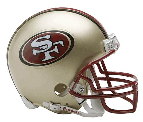 NFL San Francisco 49ers Replica Mini Football Helmet at Amazon.com