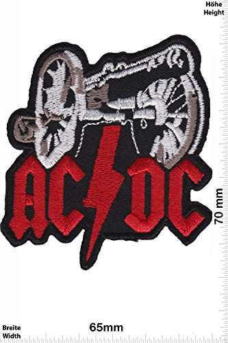 Patch - AC DC - ACDC - with cannon - MusicPatch - Rock - Chaleco - toppa - applicazione - Ricamato termo-adesivo - Give Away