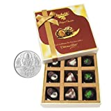 Chocholik Belgium Chocolates - Amazing Colorful Surprise Of Assorted Chocolates With 5gm Pure Silver Coin - Diwali...