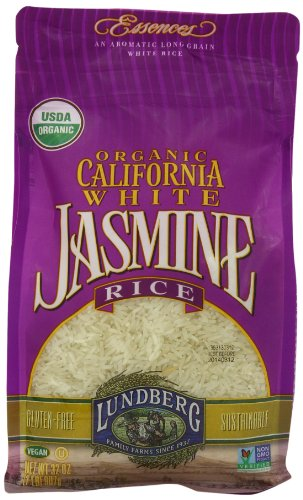 Lundberg Organic California White Jasmine Rice, 32 Ounce (Jasmine White Rice Organic compare prices)