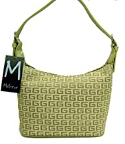 Designer G Apple Green Canvas Fabric Plaid S Mini Satchel Bag Handbag Purse