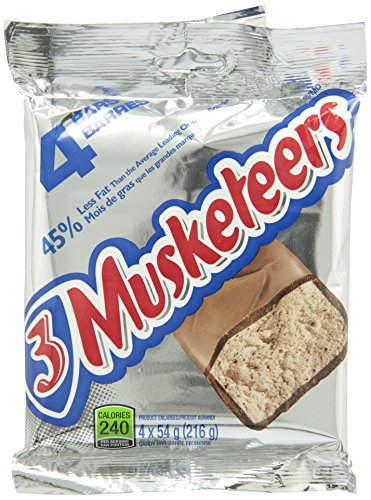 3 Musketeers Chocolate 4 Pack 216g