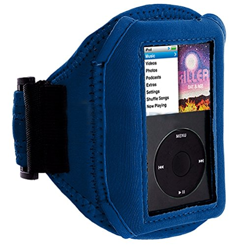 Mylife Royal Blue Velcro Strap (Light Weight Neoprene + Secure Running Armband) For Apple Ipod Classic 1St, 2Nd, 3Rd, 4Th, 5Th, 6Th And 7Th Generation front-328330