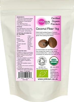 Organic Coconut Flour 1kg or 3kg - Fine Gluten Free Baking Flour