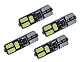 2 PAIRS CANBUS No Error T10 168 w5w 6 LED SMD White License Plate Parking Bulbs