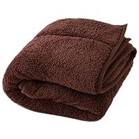 Heat Warm 発熱 あったか2枚合わせ 毛布 シングル ブラウン 40220106