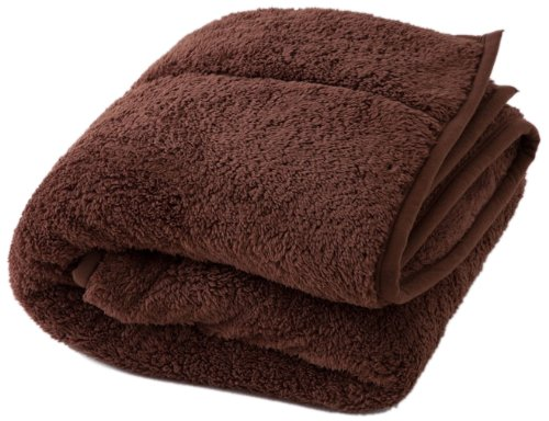 And align the two pieces were heat Warm heat blanket single Brown 40220106