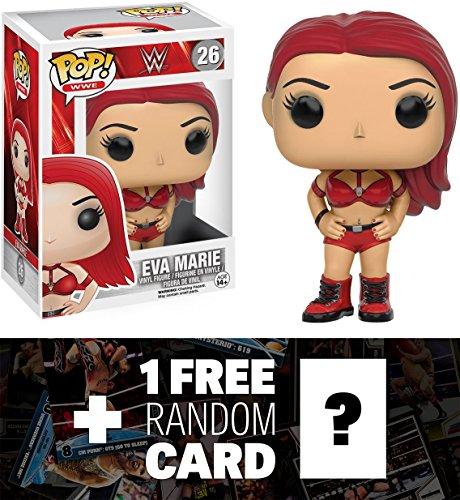 Eva Marie: Funko POP! x WWE Vinyl Figure + 1 FREE Official WWE Trading Card Bundle (077488)