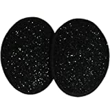 Black Sparkle Ear Mitts Bandless Ear Muffs 100g ThinsulateTM Insulation & DuPontTM Teflon® (2 sizes available) (Regular)