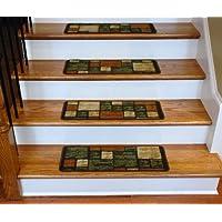 Washable Carpet Stair Treads - Hop Scotch Terra Cotta